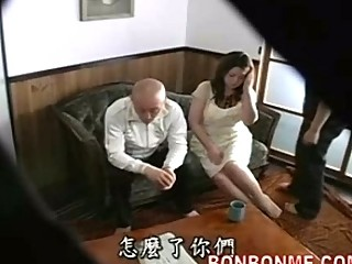 mother fuckted by son inside front of father 01