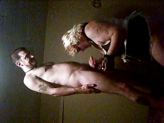 woman licking inexperienced boy dick inside  motel