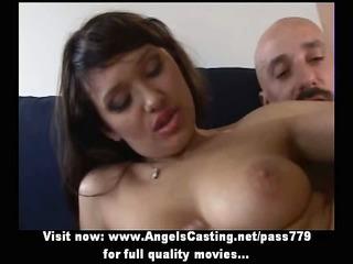 wonderful brunette fresh lady doing cock sucking