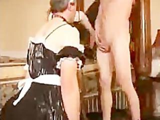 sissy lover sucks dick for lady bdsm bondage