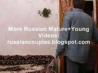 lean russian grownup chick gangbanging with a male