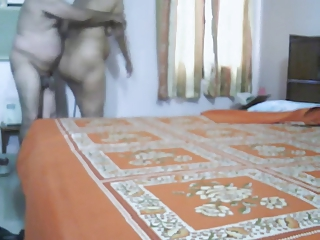 grownup indian pair making worship into bedroom