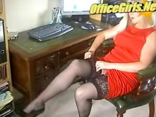 horny older milf secretary into pantyhose