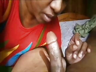 indian older  licks penis