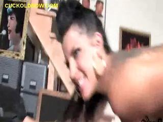 brunette maiden humiliates cuckold