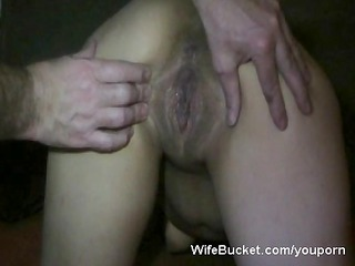 desperate wife takes a big creampie