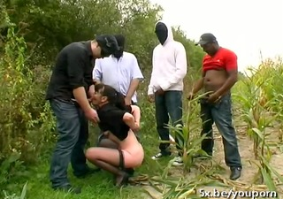 a french mature martine team-fucked outdoor