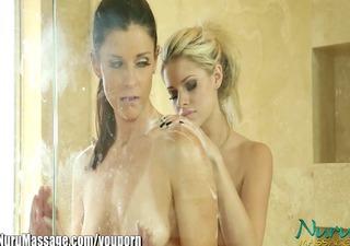 nuru massage aggressive milf's lesbian pussy