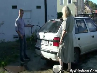 wife finds her boy banging mother in law